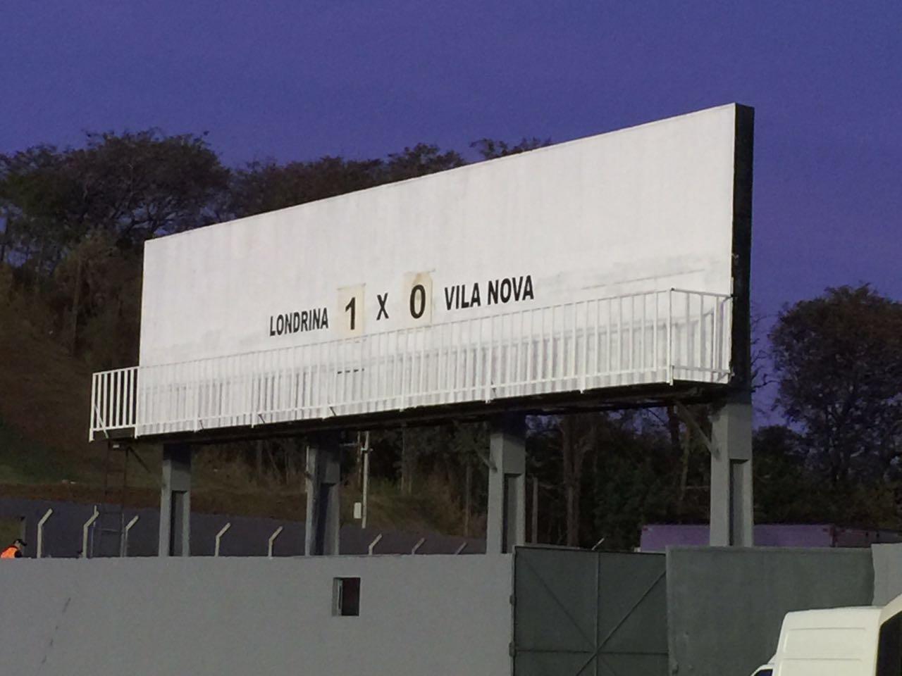 Atual placar do Estádio do Café. Foto: Redação Paiquerê