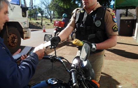 A blitz será voltada a conscientização dos motociclistas Foto: Arquivo Paiquerê