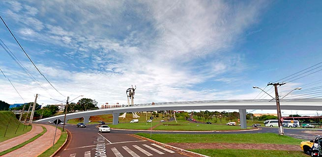 Viaduto Avenida Dez de Dezembro - Foto Prefeitura de Londrina