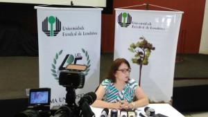 Berenice Jordão, reitora da UEL. Foto: Redação Paiquerê