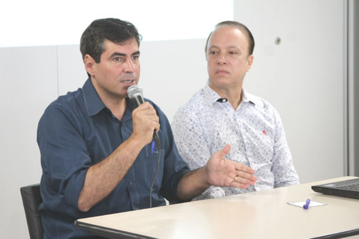 Prefeito e secretário de Fazenda e Planejamento. Foto: Divulgação