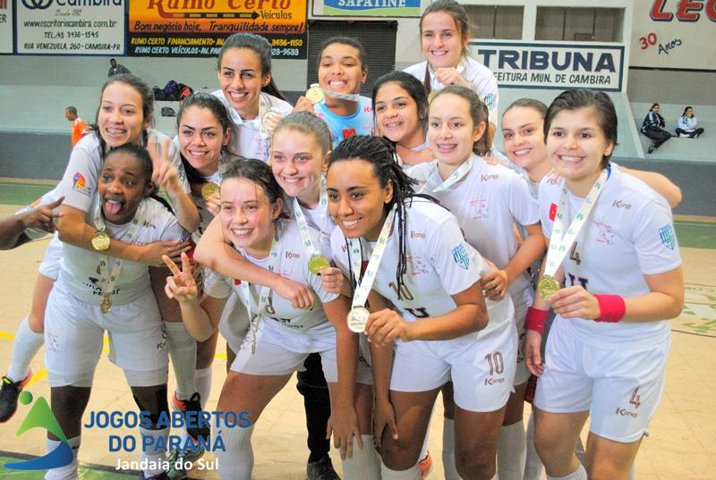 Unopar/Londrina Ouro no JAPs 2017 - Futsal Feminino - Foto:  Divulgação/Gil Riguette