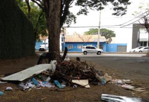 Lixo na rua Dom Pedro II - Foto Lino Ramos  (2)