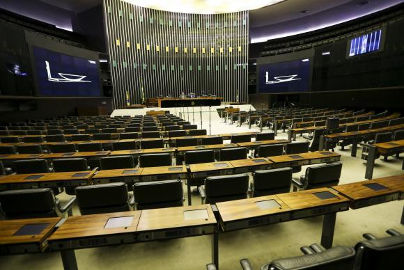 Leitura do relatório aconteceu para um plenário vazio. Foto: Marcelo Camargo/Agência Brasil