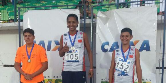 Heber de Lima Santos foi ouro no arremesso de peso. Foto: Assessoria de Imprensa/Divulgação