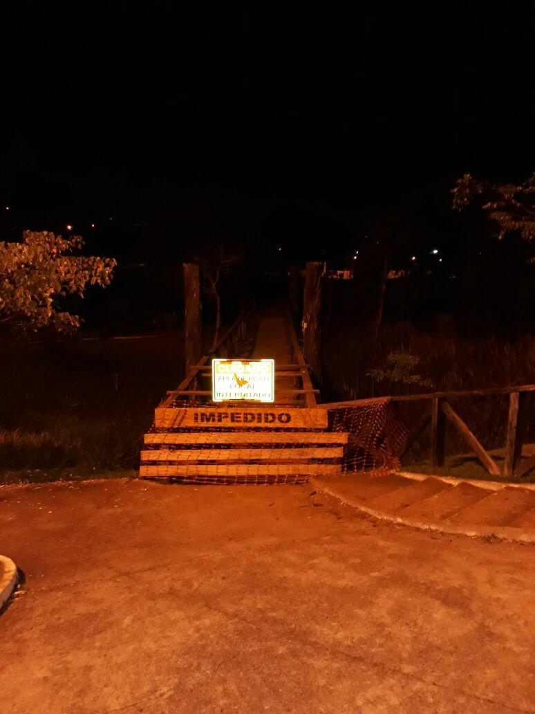 Problema ponte aterro do Lago Igapó Foto WhatsApp Paiquerê