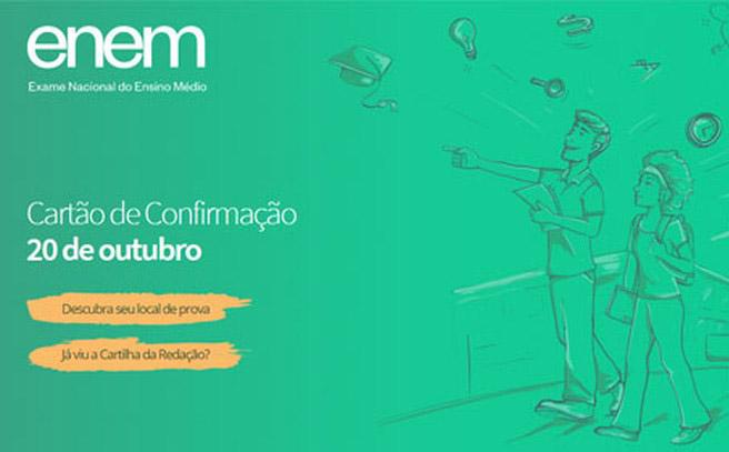 Enem - Cartão de Inscrição - Foto Divulgação