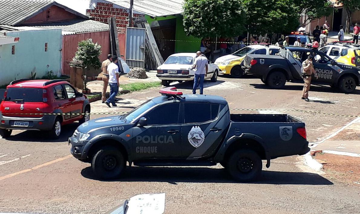 Homem morre em confronto com a PM na zona norte de Londrina - Foto Eliandro Piva