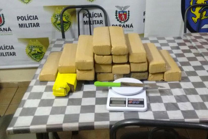 Casal é preso com mais de 17 quilos de maconha na zona norte - Foto: Paiquerê