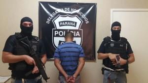 Bruninho do Jamile Dequech foi apresentado na Delegacia de Homicídios