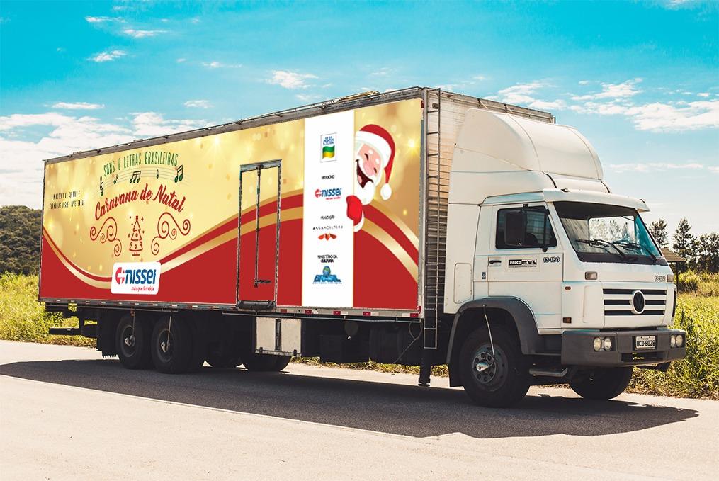 Caminhão divulgação caravana natal