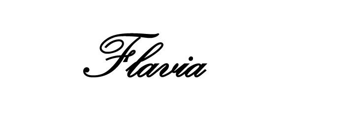 flavia cursivo