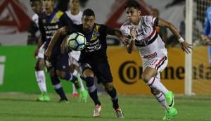 São Paulo e PSTC duelaram no Café na primeira rodada da Copa do Brasil 2017. Foto: Rubens Chiri/São Paulo FC