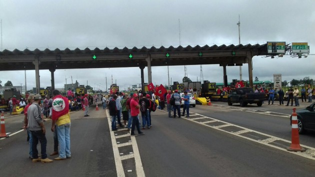 mst protesto arapongas Foto PRF