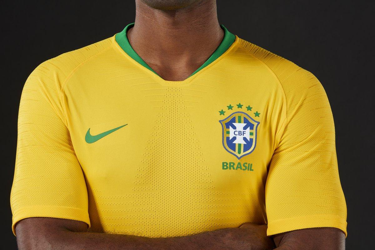 Camisa seleção brasileira - Copa do Mundo 2018. Foto: Divulgação/CBF