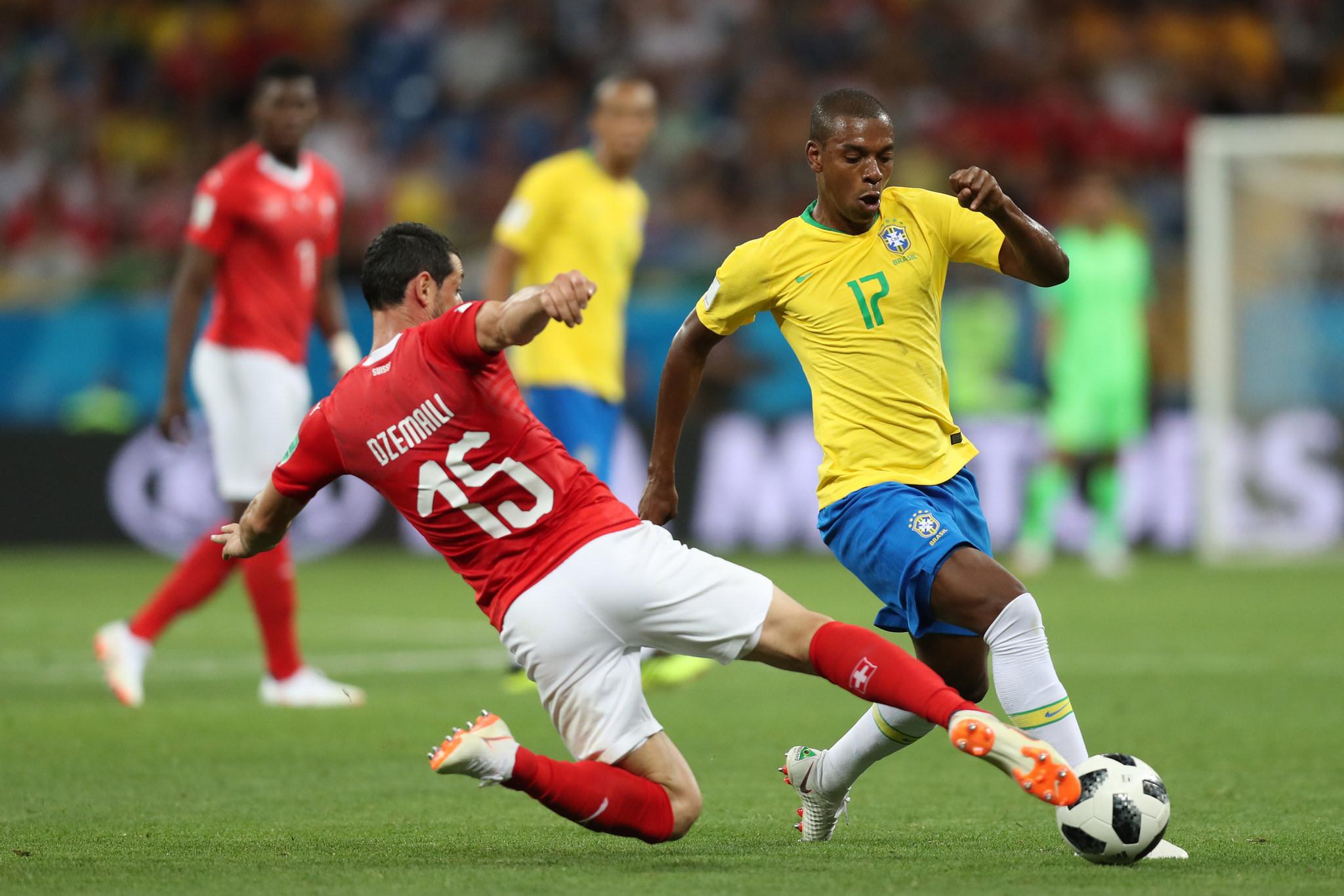Londrinense Fernandinho entrou no segundo tempo. Foto: Lucas Figueiredo/CBF