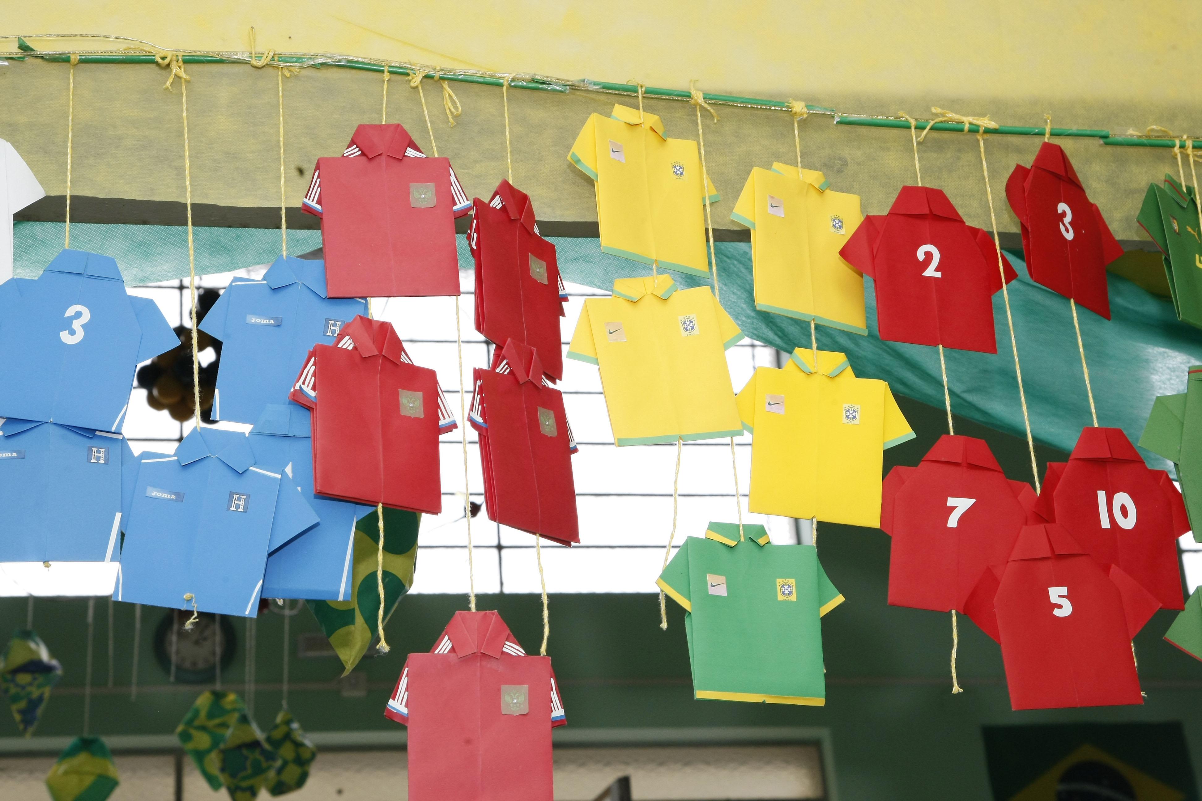 Existem escolas que estão trabalhando a Copa de forma multidisciplinar. Foto: Hedeson Alves/Divulgação