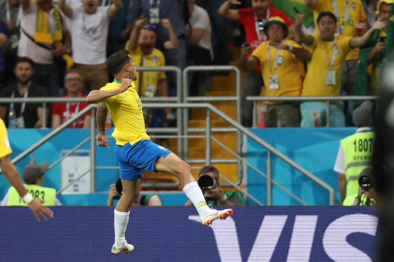 Coutinho fez uma golaço na estreia do Brasil na Copa. Foto: Lucas Figueiredo/CBF