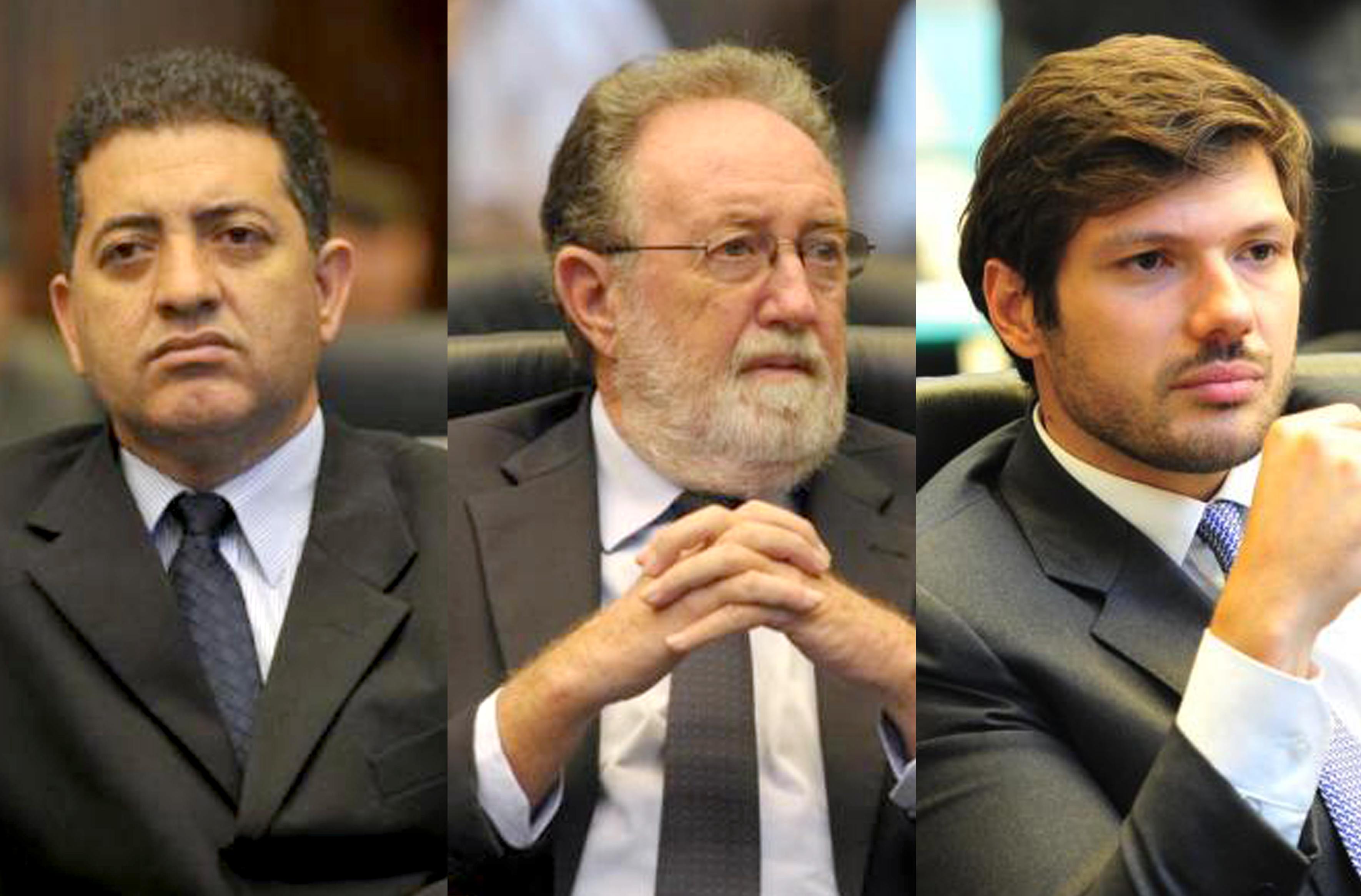 Cobra Repórter, Teríclio Turini e Tiago Amaral. Fotos: Divulgação/Alep