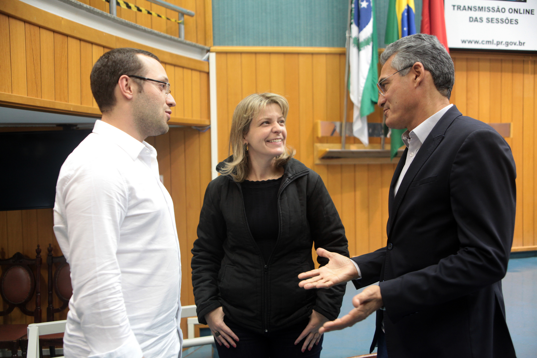 Filipe Barros, Daniele Ziober e Amauri Cardoso. Foto: Devanir Parra/CM