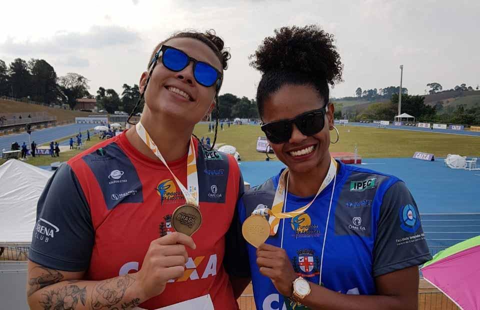 Livia e Adelly levaram Londrina ao pódio do Troféu Brasil, em Bragança Paulista. Foto: Divulgação