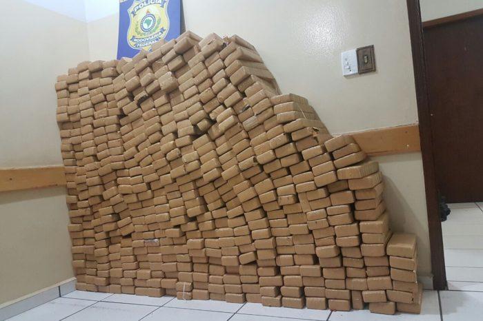Meia tonelada de droga é apreendida em posto da PRF na BR-369