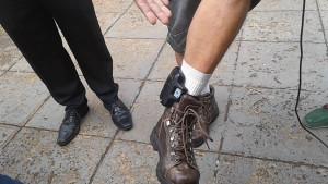 Boca Aberta com a tornozeleira eletrônica. Foto: Portal Paiquerê