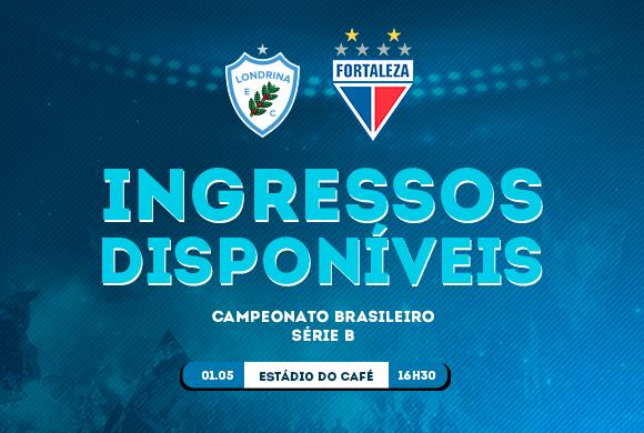 6035dd3d00 Londrina inicia venda de ingressos para a partida contra o Fortaleza