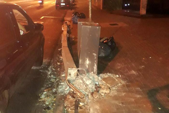 Acidentes de carro derrubaram 190 postes em Londrina em 2018