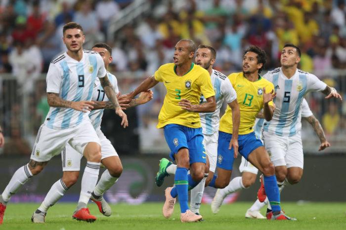 Com gol de Miranda, Brasil fica com o título do superclássico contra a Argentina