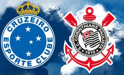 Cruzeiro e Corinthians se enfrentam no jogo de ida da final da Copa do Brasil