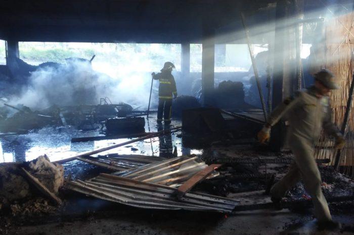 Centro médico em construção pega fogo três vezes em dois dias