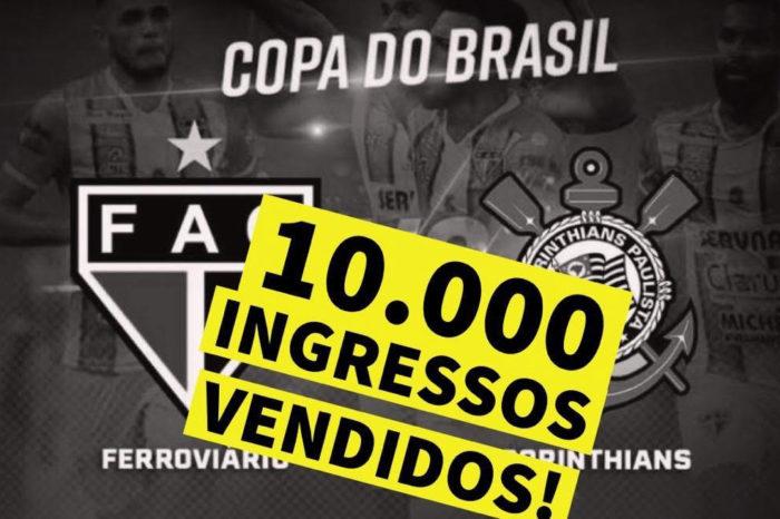 Mais de 10 mil ingressos já foram vendidos para jogo do Corinthians no Café