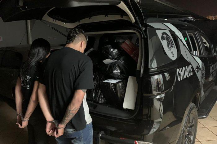 Casal é preso com mais de 120 quilos de maconha na zona norte