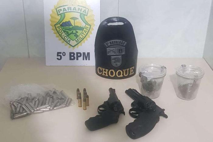Youtuber londrinense é preso com arma, munições e drogas
