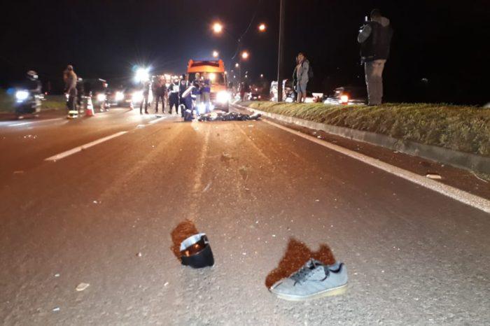 Motociclista atropela pedestre e morre na BR-369 em Londrina