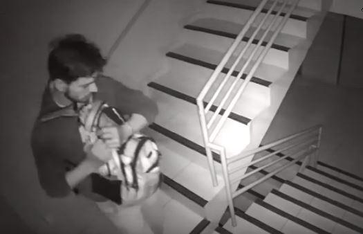 Câmeras de segurança flagram furto dentro de prédio na região central; Vídeo