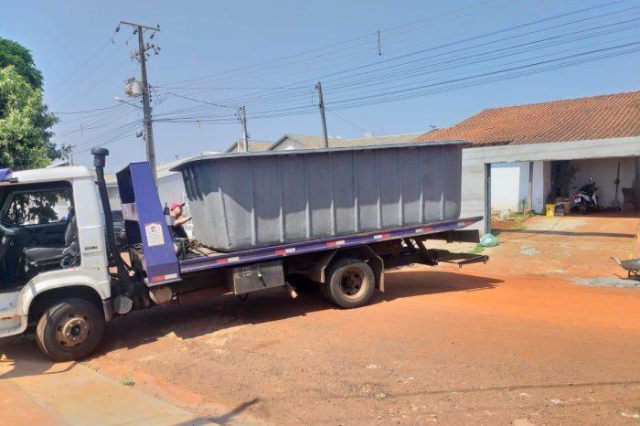 Piscina de cinco metros furtada em fábrica estava sendo instalada na zona oeste