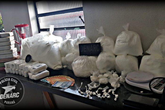 Cocaína avaliada em R$ 4 milhões é apreendida em laboratório clandestino