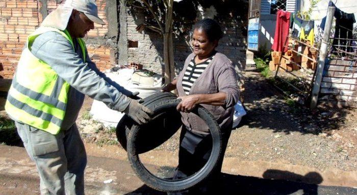 Ponto para entrega de pneus estará disponível nesta terça (18) na zona norte