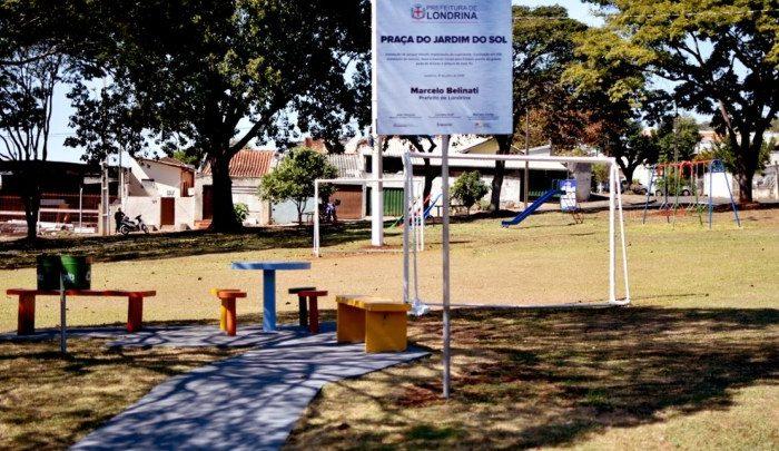 Município entrega obras de revitalização da praça do jardim do Sol