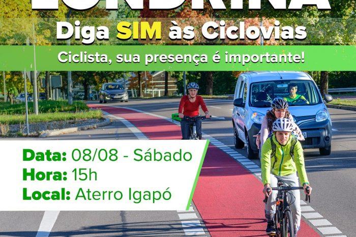 Ciclistas farão manifestação neste sábado (8)