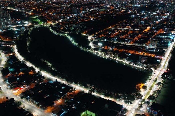 Confira como ficou a nova iluminação com LED do lago Igapó