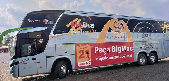 Viação Garcia apoia a campanha McDia Feliz pelo 4º ano consecutivo