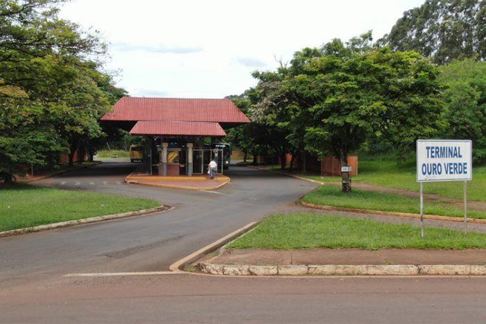 Terminal Ouro Verde será fechado para obras na rotatória