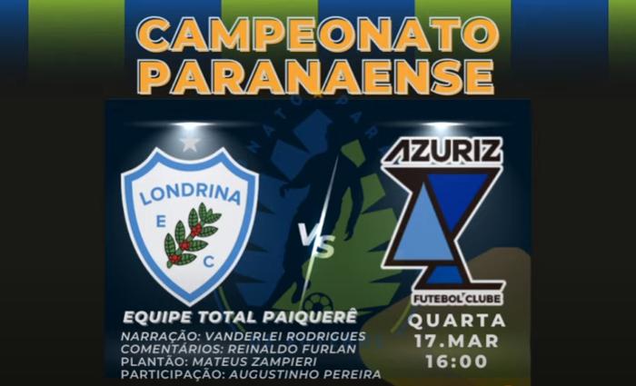 Ouça como foi a transmissão de Londrina 1x1 Azuriz
