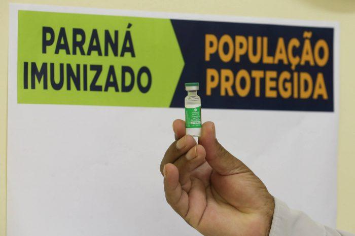 Paraná já vacinou 82% da população acima de 70 anos