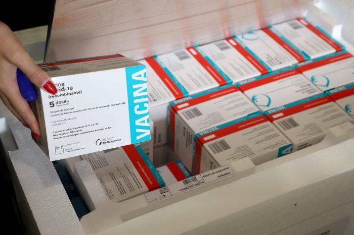 Paraná receberá nesta quarta mais 237 mil vacinas da AstraZeneca