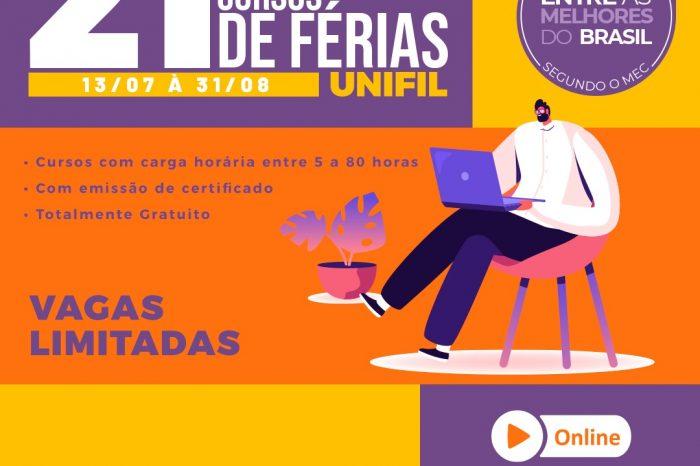 Cursos de Férias da UniFil 2021 seguem com inscrições abertas