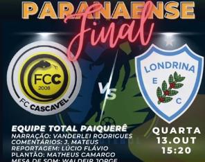 Ouça como foi a transmissão do 5º título paranaense do Londrina sobre o FC Cascavel!